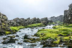Iceland landscape with river Royalty Free Stock Photo