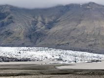 Iceland the landscape of the Skaftafellsjokull glacier moraine 2 royalty free stock photos