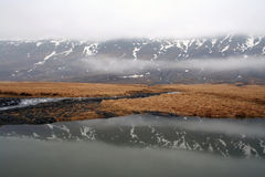 Iceland. Landscape in Iceland in springtime Royalty Free Stock Photos