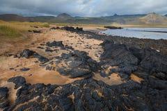 Iceland landscape with volcanic stones Stock Photo