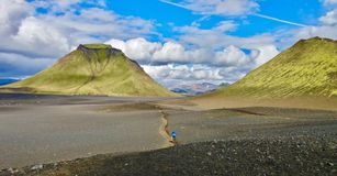 Iceland, Laugavegur trek, the way to success stock image