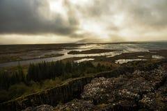 iceland liggande royaltyfri fotografi