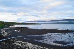 iceland liggande Arkivbild
