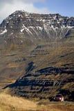 iceland liggande nära seydisfjordur royaltyfria foton