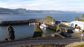 Iceland little fishermans harbour. In the town called Arnastapi west side of the country royalty free stock images