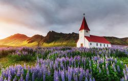 Iceland, located on the main ring road around the island Stock Image