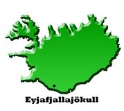 Iceland Map Royalty Free Stock Photography