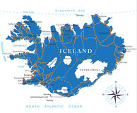Iceland map Royalty Free Stock Image