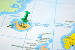 Iceland map Royalty Free Stock Photos