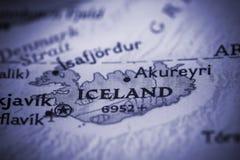 iceland mapa Zdjęcie Royalty Free