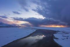 Iceland Marznąca rzeka Obraz Stock