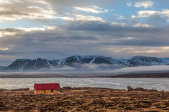 Iceland mountain and atlantic ocean in the morning Stock Photography