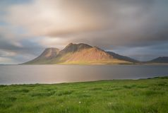 Iceland mountain and ocean Stock Photo