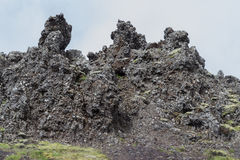 Iceland Mountain Ridge. Iceland Close-up of Mountain Ridge Royalty Free Stock Photos