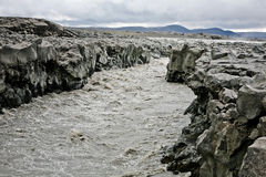 Iceland mountain river Royalty Free Stock Images