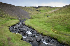Iceland mountain river Stock Photos