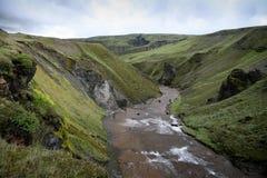 Iceland mountain river Royalty Free Stock Photos