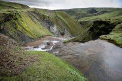 Iceland mountain river Royalty Free Stock Photo