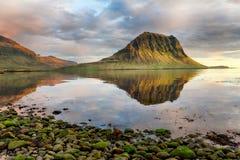 Iceland mountain volcano landscape Royalty Free Stock Image