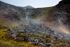 Iceland thermal sulphurous spring Royalty Free Stock Photo