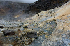 Iceland thermal sulphurous spring Stock Photography