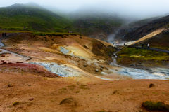 Iceland thermal sulphurous spring Stock Image