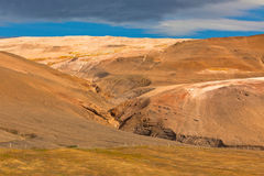 Iceland Mountains landscape. Hverir sulfuric springs Stock Photography