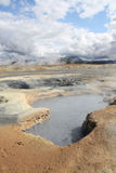 Iceland mud pool Stock Photography