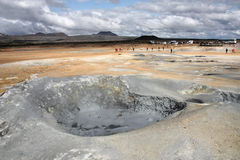 Iceland - mud pool Stock Photos