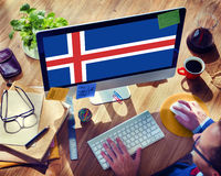 Iceland National Flag Government Freedom LIberty Concept Royalty Free Stock Image