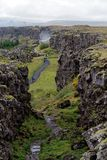 iceland nationalparkthingvellir Arkivfoto