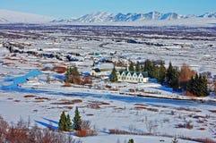 iceland nationalparkthingvellir Arkivbilder