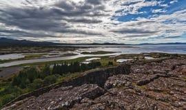 iceland nationalparkthingvellir royaltyfri fotografi