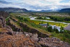 iceland nationalparkthingvellir royaltyfria bilder