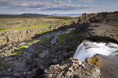 iceland nationalparkthingvellir Royaltyfria Bilder