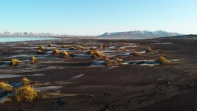Iceland natural landscape, Flying through the beautiful