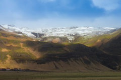 Iceland natural snow covered mountain Stock Photo