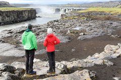 Iceland nature landscape with people by Selfoss Stock Image