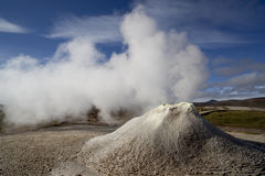 Iceland nature and landscapes geyser Royalty Free Stock Photos