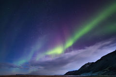 Iceland. Northern lights aurora holiday Royalty Free Stock Image