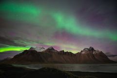 Iceland Northern lights Stock Image