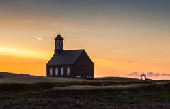Iceland, Old Stone Built Church Stock Image