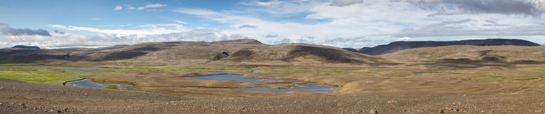 Iceland panorama. Panorama of the Icelandic inland wilderness royalty free stock images