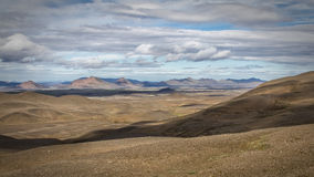 Iceland panorama. Panorama of the Icelandic inland wilderness royalty free stock photo