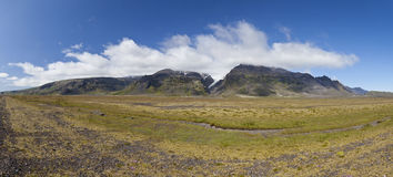Iceland Panoramic Mountain Landscape Royalty Free Stock Photo