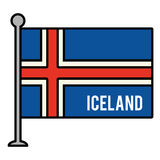 Iceland patriotic flag isolated icon Royalty Free Stock Image