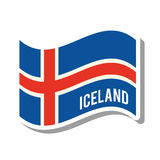 Iceland patriotic flag isolated icon Stock Images
