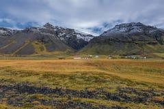 Iceland, Piękny arktyczny krajobraz, dziki pole Zdjęcia Stock