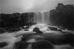 Iceland Pingvellir waterfall. Water effects at Pingvellir Iceland taken in October 2016 Royalty Free Stock Photography
