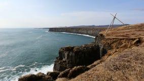 Iceland południowego wybrzeża czasu upływ Zdjęcia Stock